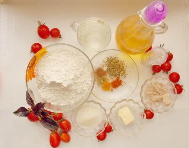 Ингредиенты для приготовления фокаччи