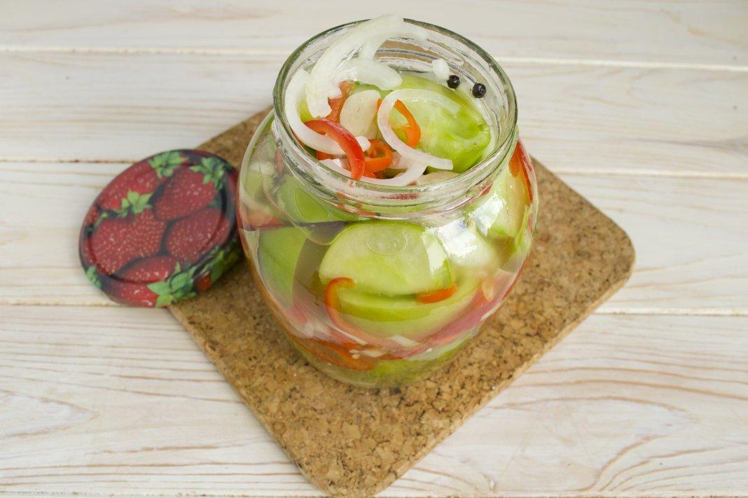Маринованные помидоры с луком  кулинарный рецепт