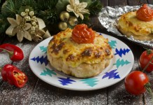 Котлеты с топингом и помидорами черри в духовке
