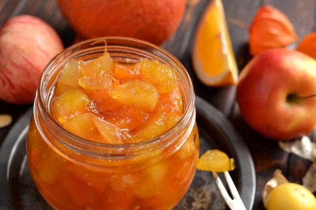 Варенье из тыквы с физалисом, яблоками и апельсином
