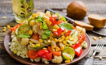 Запеченные овощи с кускусом по-мароккански