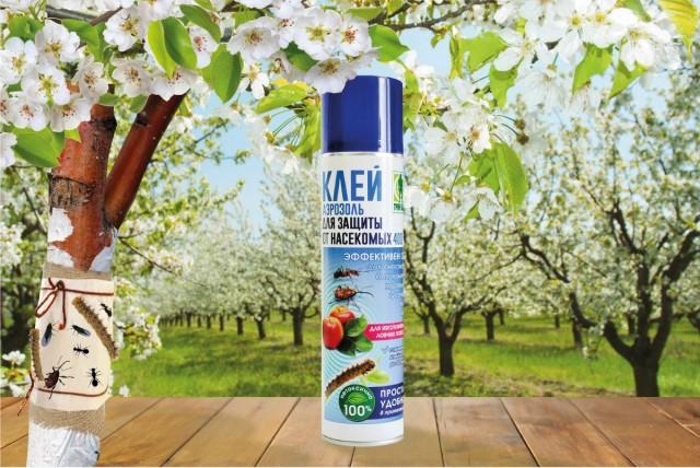 Клей-аэрозоль для защиты от насекомых