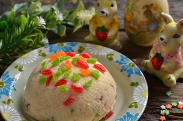 Пасха творожная со сгущенкой и арахисовой пастой