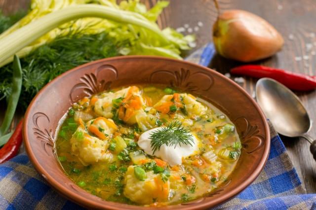 Рыбный суп с картофельными клёцками