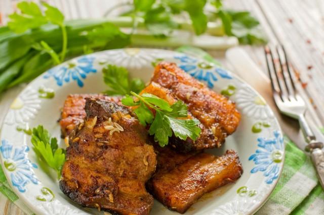 Поджарка из свинины — простой рецепт