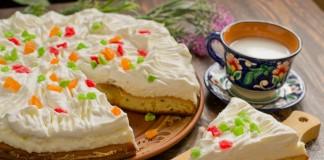 Творожный торт со взбитыми сливками