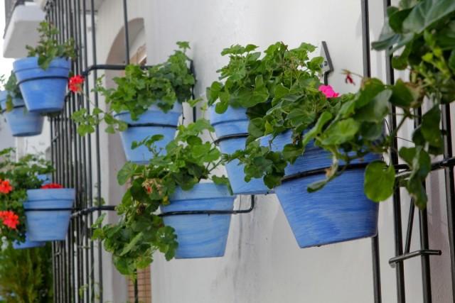Для вертикальных горшечных садов на открытых балконах особое внимание нужно уделить устойчивости конструкций