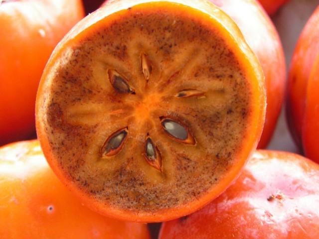 Плод хурмы в разрезе