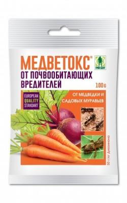 «Медветокс» – инсектицид кишечного действия, предназначенный для борьбы с медведкой и садовыми муравьями
