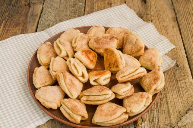 Творожное печенье с кардамоном и корицей готово!