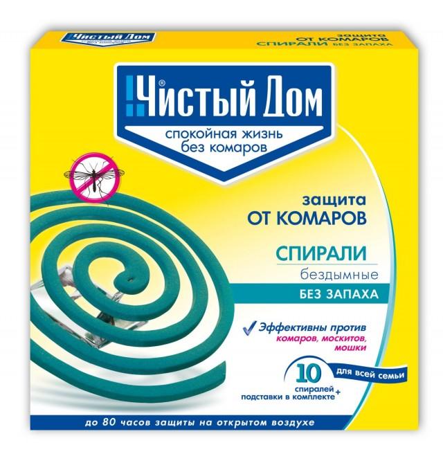 Спирали «Чистый Дом» для защиты от комаров