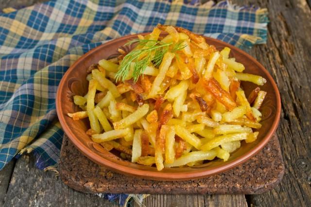 Жареная картошка в духовке готова