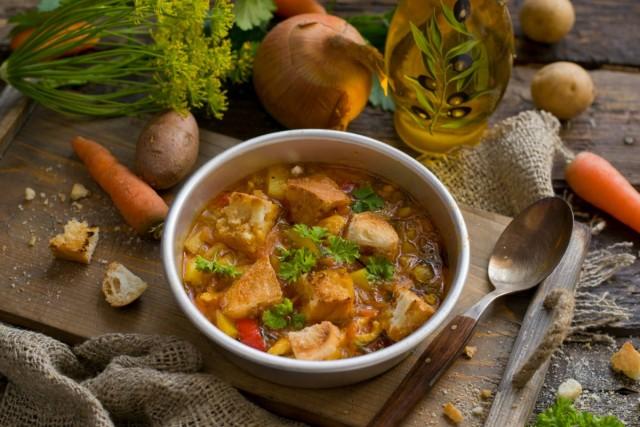 �тальянский куриный суп