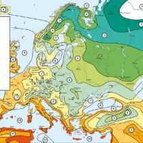 Карта зон морозостойкости Европы