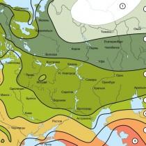 Карта зон морозостойкости Европейской части России