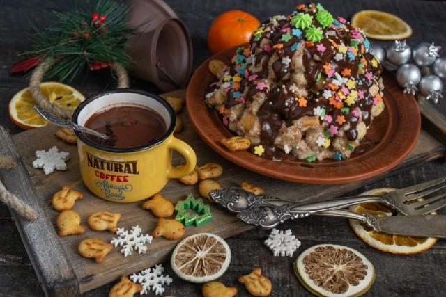 Быстрый торт «Муравейник» без выпечки
