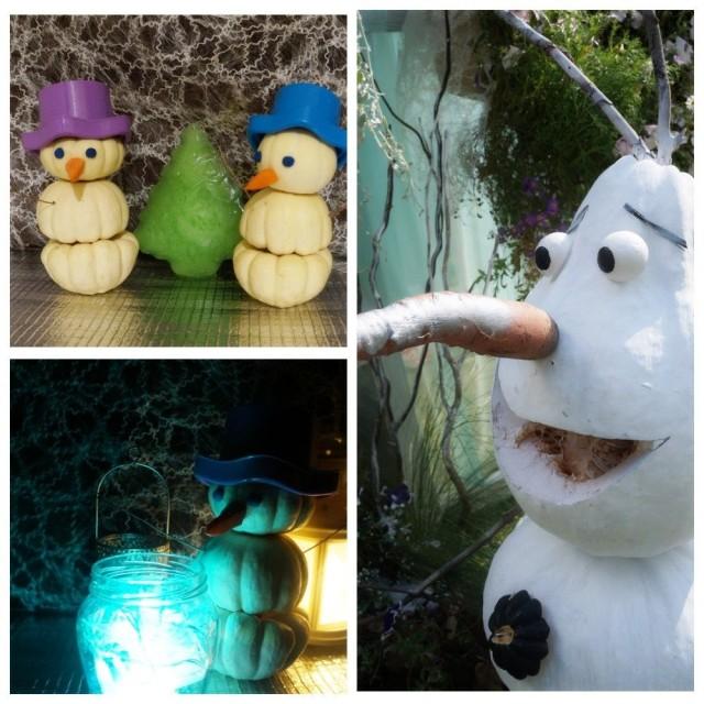 Новогодний декор из тыквы