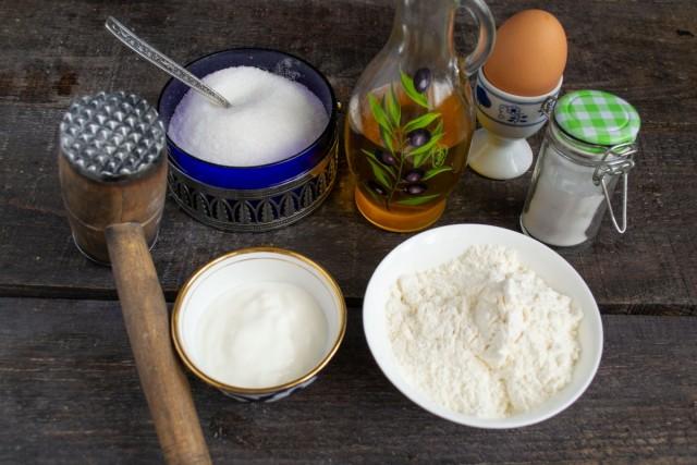 Ингредиенты для простого домашнего печенья на сковороде