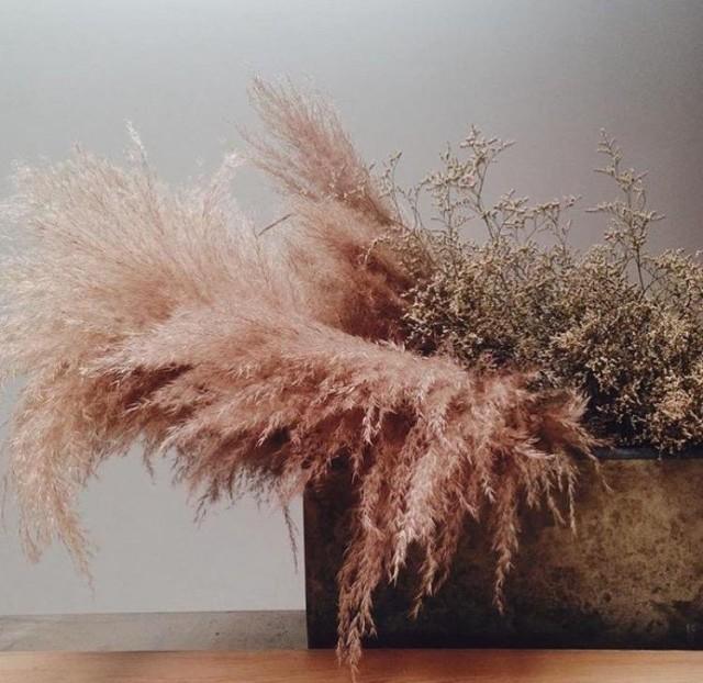 Декор с пампасной травой