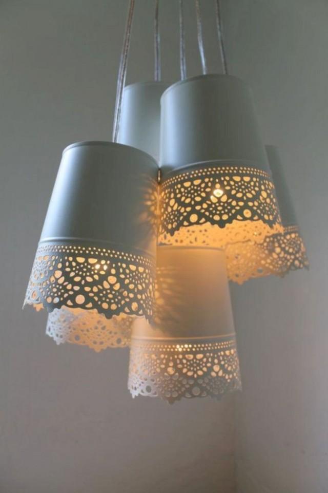 Светильники из цветочных горшков