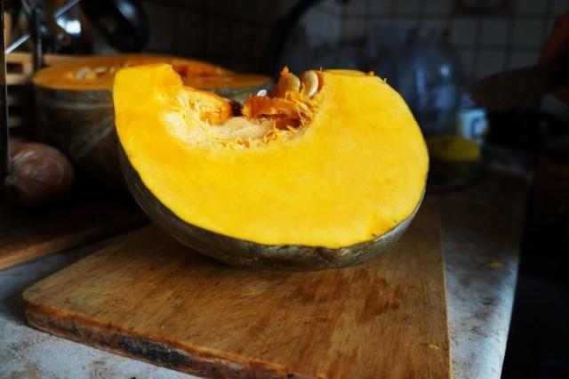 Сорт тыквы «Амбар» в разрезе