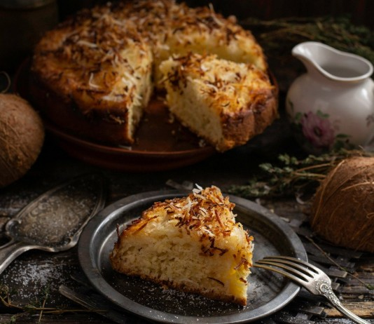Немецкий кокосовый пирог «Кухен»