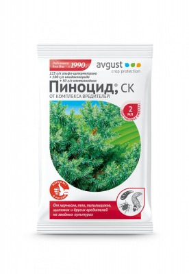 Незаменимый препарат от комплекса вредителей на хвойных растениях «Пиноцид»