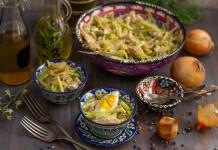Пикантный салат «Узбекистан» с мясом и зелёной редькой