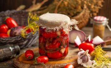 Кисло-сладкие маринованные помидоры черри