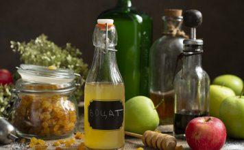 Домашний яблочный уксус с изюмом и мёдом