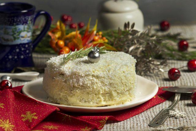 Новогодний торт «Снежный» — простой и вкусный