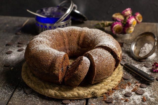 Простой шоколадный пирог в духовке