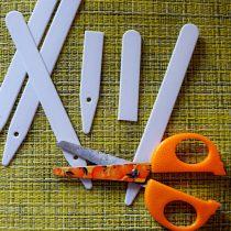 Сократить расходы на ярлычки в два раза очень легко просто разрезав их поперек пополам
