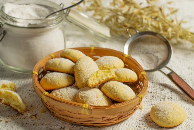 Вкусное печенье с творогом из простых ингредиентов готово