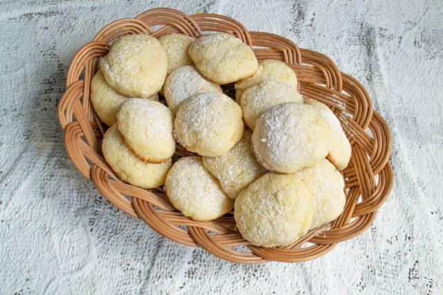 Итальянское лимонное печенье готово