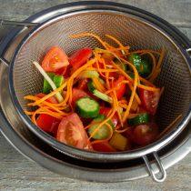 Оставляем овощи на 20 минут