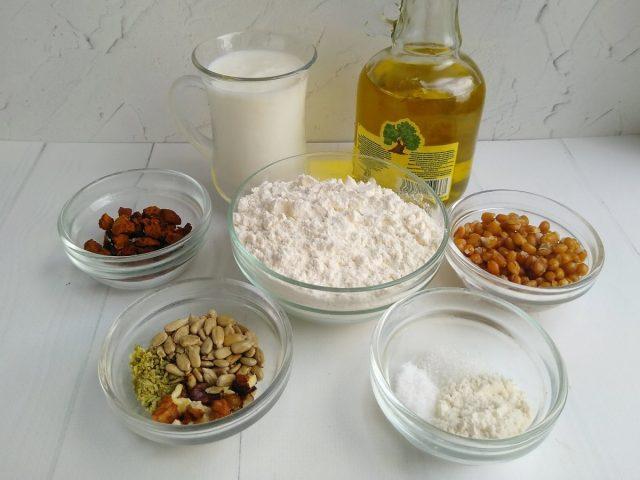 Ингредиенты для приготовления березового хлеба