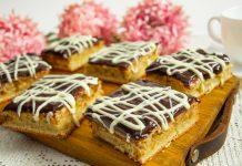 Сладкий кабачковый торт с шоколадной помадкой
