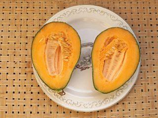 Дыня «Дамский завтрак» в разрезе
