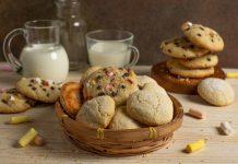Вкусное домашнее печенье с шоколадом и зефиром