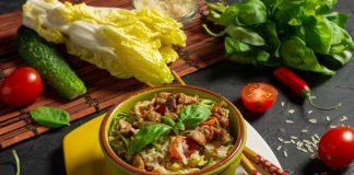 Вкусный салат с мясом свинины без майонеза