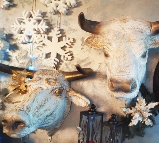 Панно с головой быка