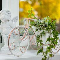 Подставка в виде велосипеда на один цветок