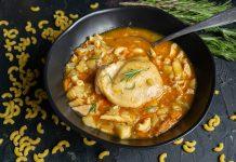 Согревающий куриный суп с макаронами
