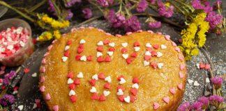 Лимонный кекс «Валентинка» — десерт для влюбленных