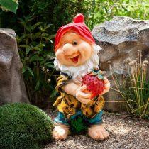 Фигурка для сада Гном с клубникой