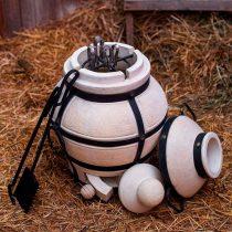 Кочерга, лопатка и прочие инструменты для готовки на открытом огне