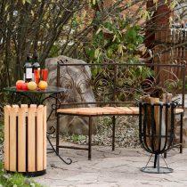Набор дачной мебели элементами ковки и дерева