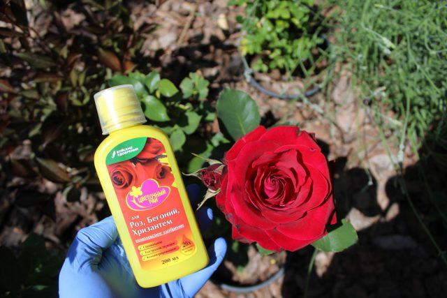 Удобрение для роз, бегоний и хризантем из серии «Цветочный рай»