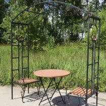 Беседка-арка с сиденьями и столом